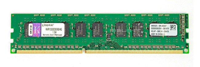 Memory RAM 1x 4GB Kingston ECC UNBUFFERED DDR3  1333MHz PC3-10600 UDIMM | KVR1333D3E9S/4G