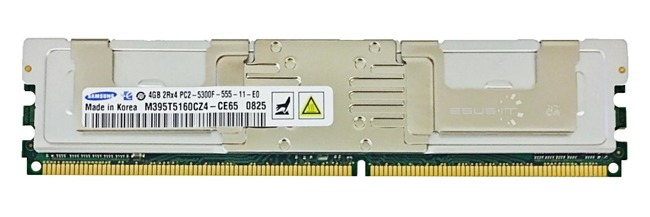 Memory RAM 1x 4GB Samsung ECC FULLY BUFFERED DDR2 667MHz PC2-5300 FBDIMM | M395T5160CZ4-CE65