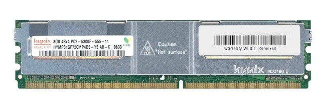 Memory RAM 1x 8GB Hynix ECC FULLY BUFFERED DDR2 667MHz PC2-5300 FBDIMM | HYMP31GF72CMP4D5-Y5