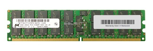 Memory RAM 1x 8GB Micron ECC REGISTERED DDR2  667MHz PC2-5300 RDIMM | MT36HTF1G72PY-667
