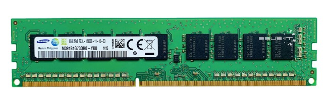 Memory RAM 1x 8GB Samsung ECC UNBUFFERED DDR3  1600MHz PC3-12800 UDIMM | M391B1G73QH0-YK0