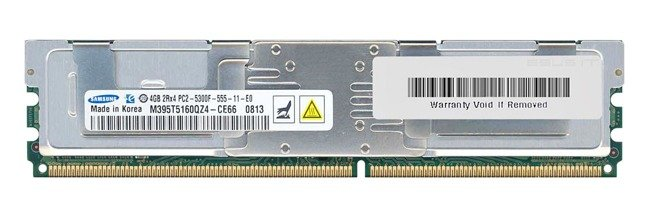 Memory RAM 2x 4GB Samsung ECC FULLY BUFFERED DDR2 667MHz PC2-5300 FBDIMM | M395T5160QZ4-CE66